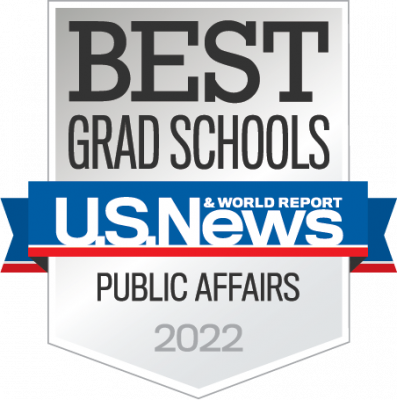 US News and World Report badge for Best Grad Schools in Public Affairs for 2022
