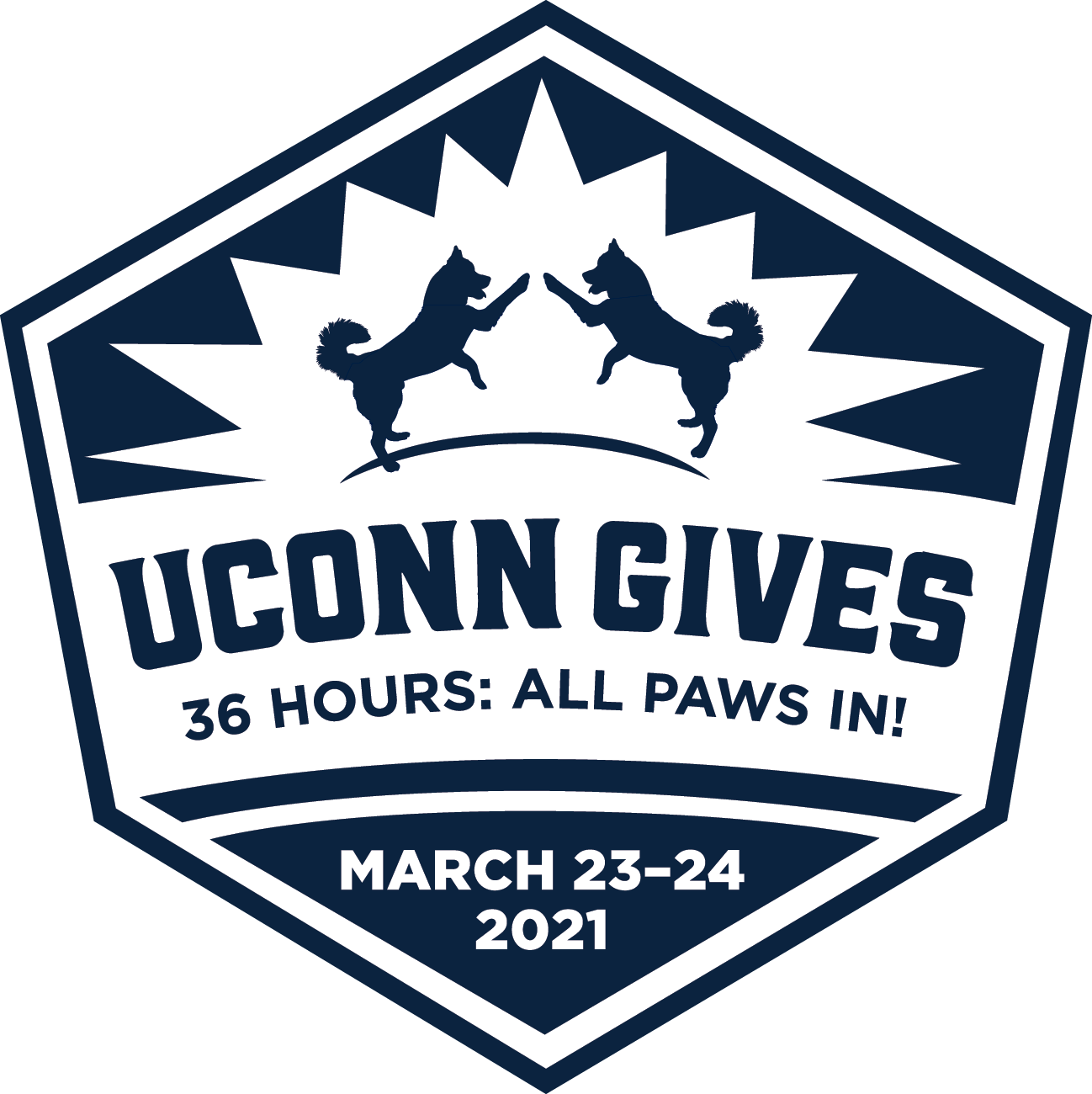UConn Gives. 36 hours: All Paws In! March 23-24, 2021