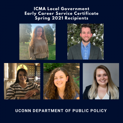 ICMA Local Government Early Career Service Certificate Spring 2021 Recipients